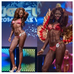 Funke Ipaye, WBFF Bikini and Fitness Model, 4th & 7th place